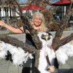 Pam and the Owl Tree Wish Sculpture
